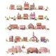 Vector Low Poly 2d Small Town Scenes - GraphicRiver Item for Sale