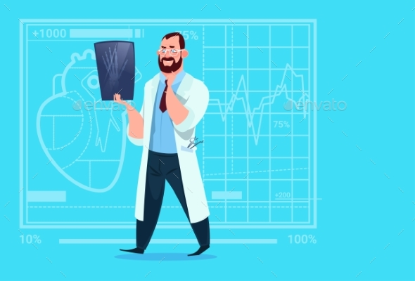 GraphicRiver Doctor Examining Xray Medical Clinics Worker 20337073