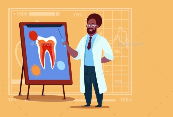 Dentist Looking at Tooth - Health/Medicine Conceptual