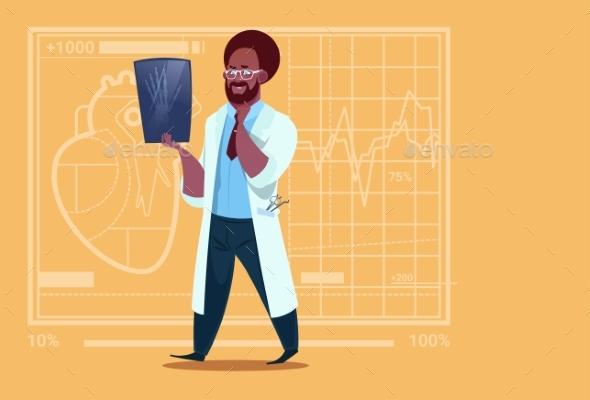 Doctor Examining X-Ray Medical - Health/Medicine Conceptual