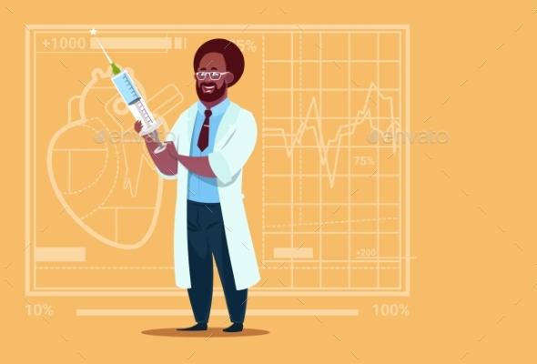 Doctor Holding Syringe - Health/Medicine Conceptual
