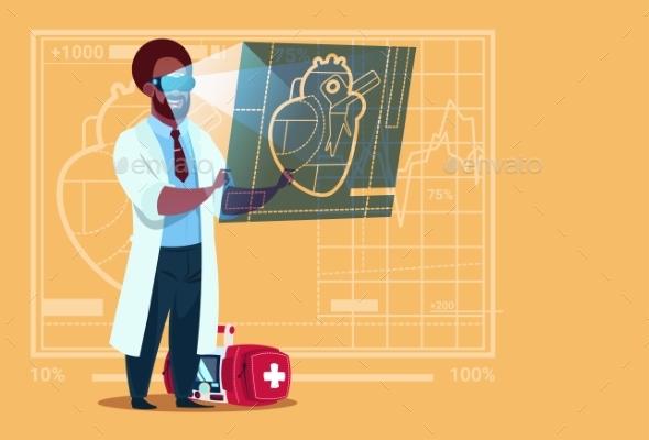 Doctor Cardiologist Examining - Health/Medicine Conceptual