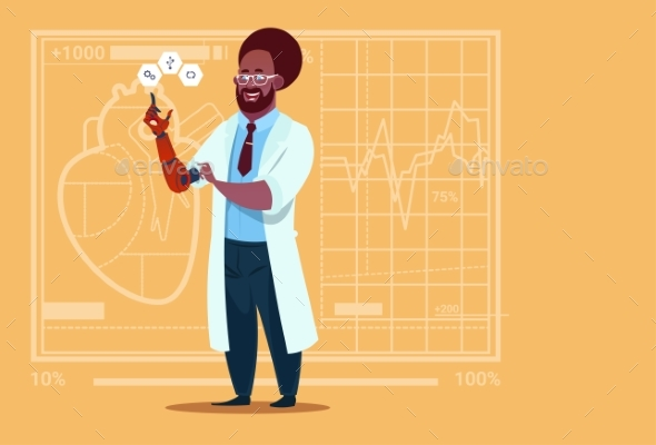 GraphicRiver Doctor Working with Robotic Hand 20337163