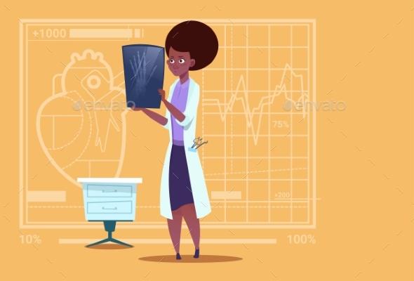 Doctor Examining X-Ray - Health/Medicine Conceptual
