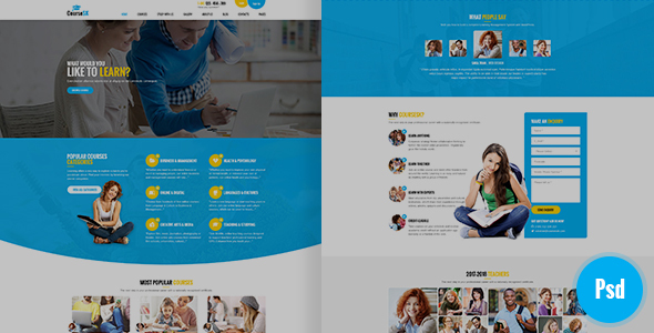 CourseSK Psd Template - PSD Templates