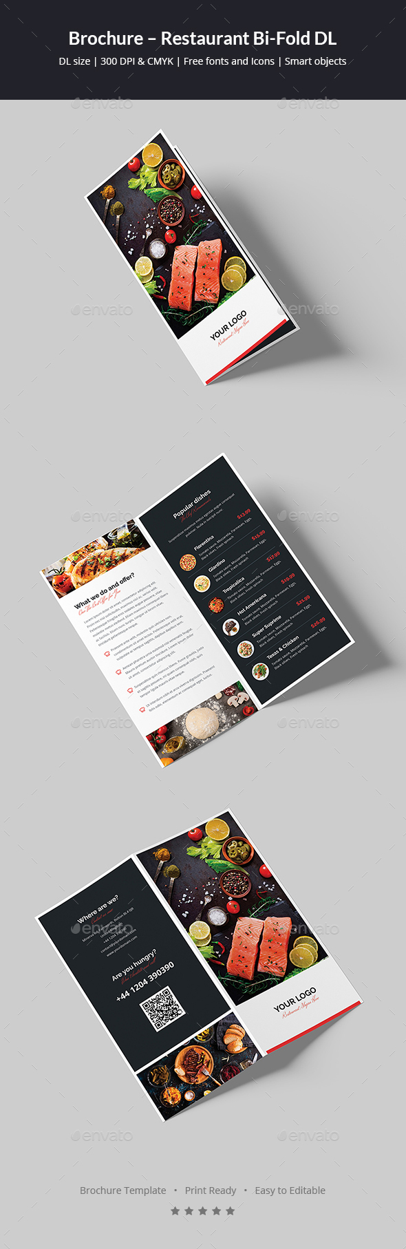 Brochure – Restaurant Bi-Fold DL - Informational Brochures