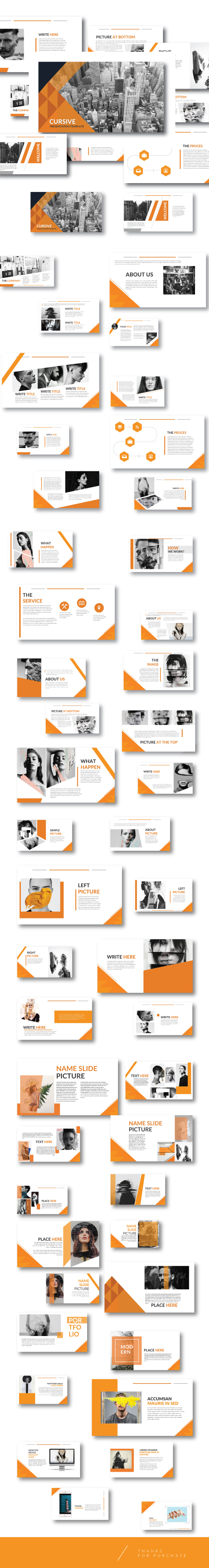 Modern Orange Multipurpose Template keynote - Business Keynote Templates