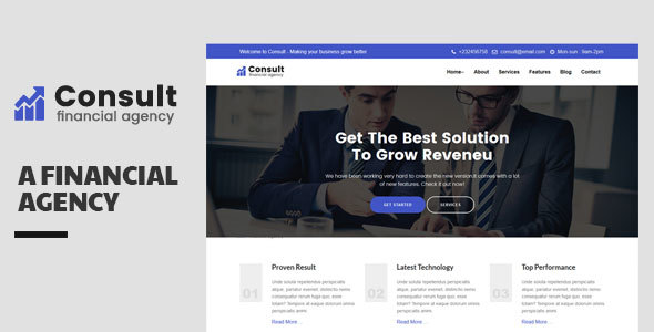 Consult-Financial Consulatnce Template