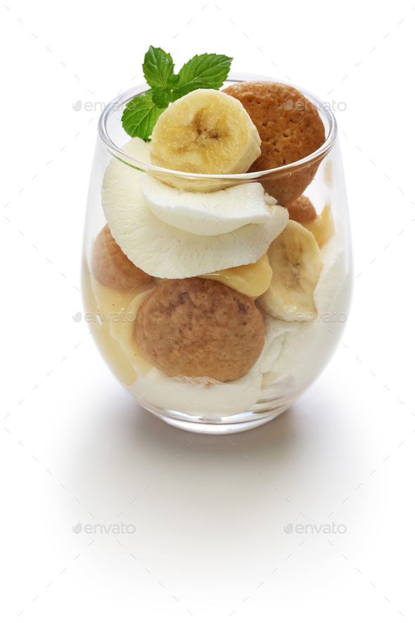 homemade banana pudding, Southern dessert - Stock Photo - Images