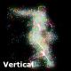 Dancing Particle Vertically VJ DJ Club Party Visuals