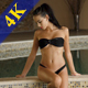 Beautiful Girl in Bikini Relaxing in Swimming Pool - VideoHive Item for Sale
