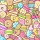 Seamless Background of Sweet and Dessert Doodle - GraphicRiver Item for Sale