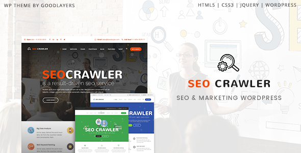 Image of SEO Crawler - Digital Marketing Agency, Social Media, SEO WordPress Theme