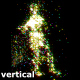 Girl Particle Dance Vertically To Music DJ VJ Club Visuals