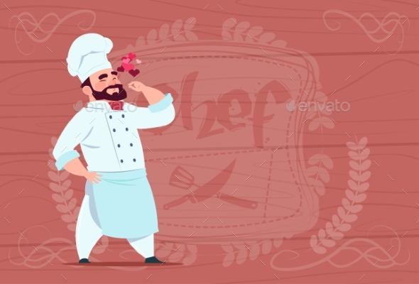 Chef Happy Smiling Cartoon - Miscellaneous Vectors