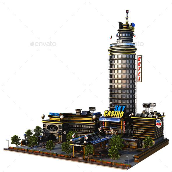 Sky Casino Building - Architecture 3D Renders
