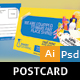 Cleaning Postcard - GraphicRiver Item for Sale
