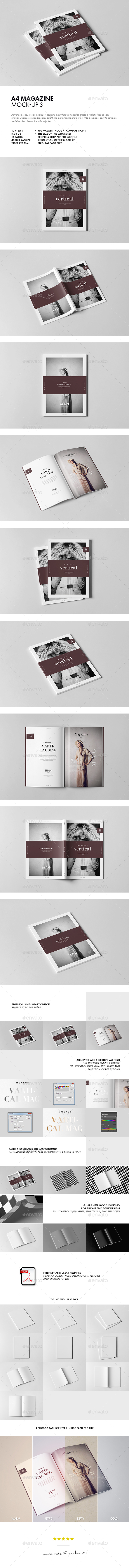 GraphicRiver A4 Magazine Mock-up 3 20338434