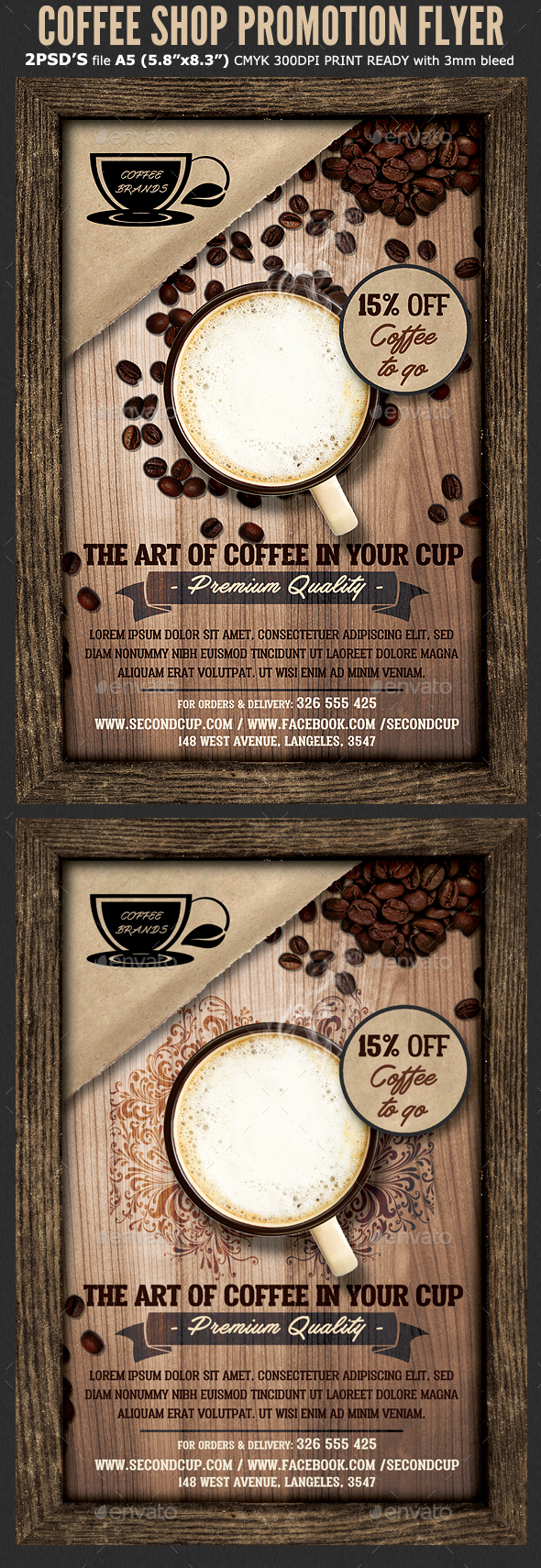 Coffee Shop Promotion Flyer Template - Flyers Print Templates