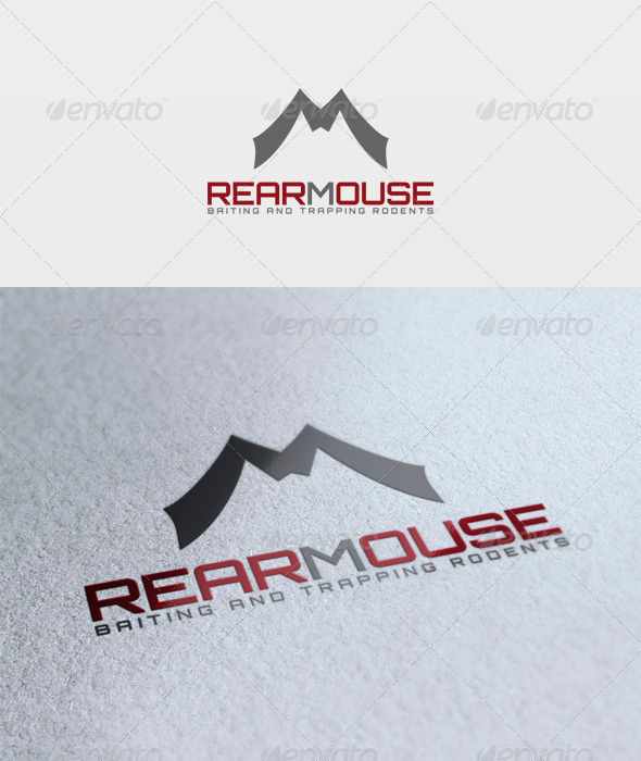 Rear Mouse Logo - Letters Logo Templates