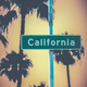 Retro California Sign And Palms - PhotoDune Item for Sale