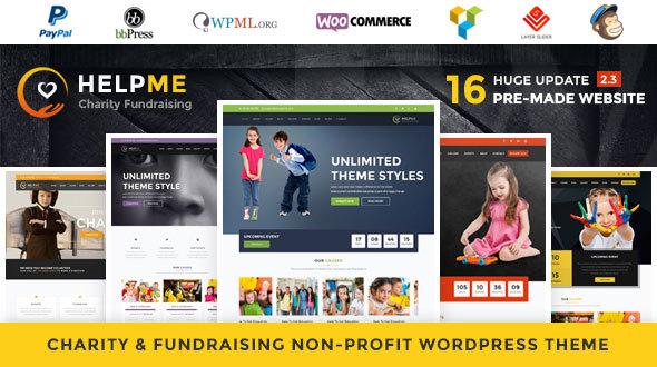 HelpMe - Nonprofit Charity WordPress Theme - Charity Nonprofit