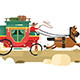 Stagecoach Design Flat - GraphicRiver Item for Sale