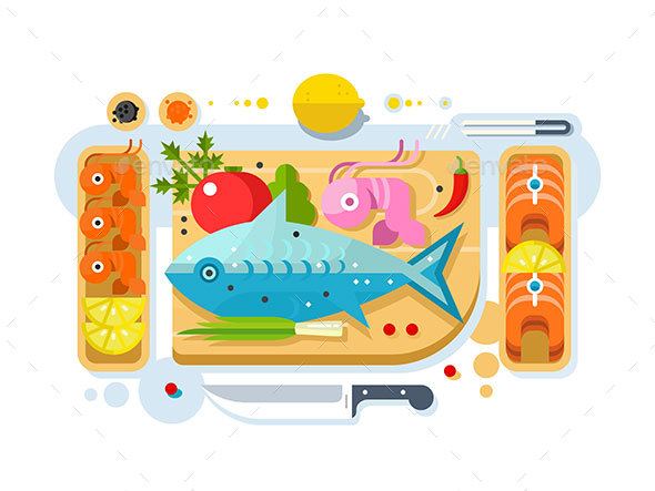 GraphicRiver Sea Food Fish Product 20338795