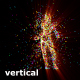 Girl Particle Fast Dance To Music Vertically DJ VJ Club Visuals