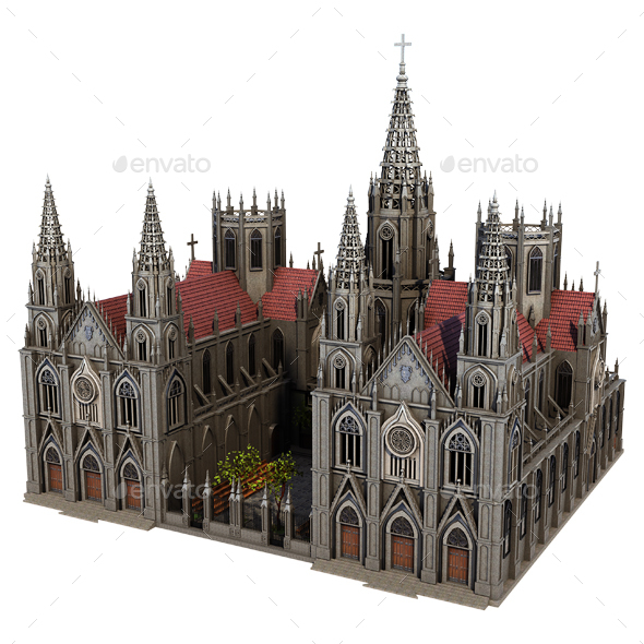 Fantasy Church - Architecture 3D Renders