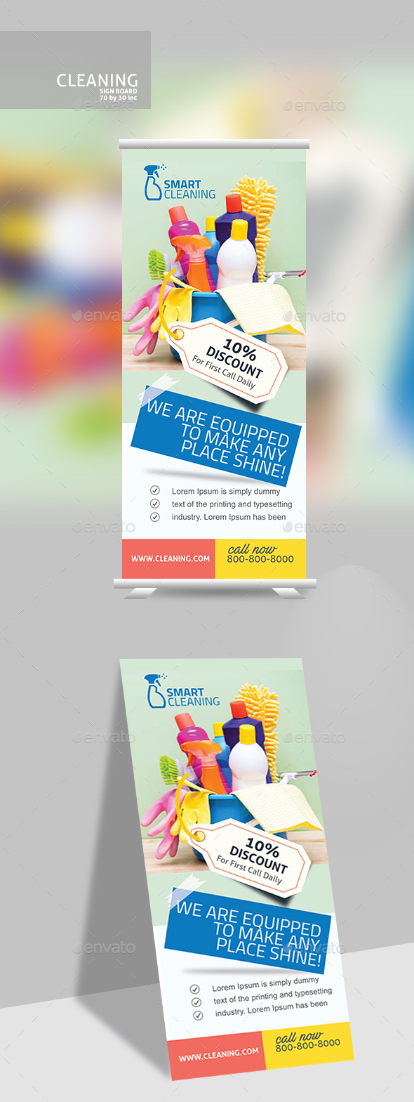 Cleaning Banner - Signage Print Templates