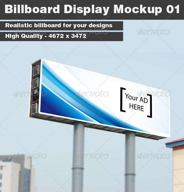 Billboard Display Mockup 01 - Signage Print