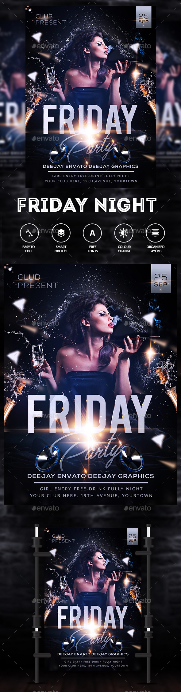 GraphicRiver Friday Night Flyer 20339422