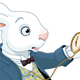 White Rabbit Holds Watch - GraphicRiver Item for Sale