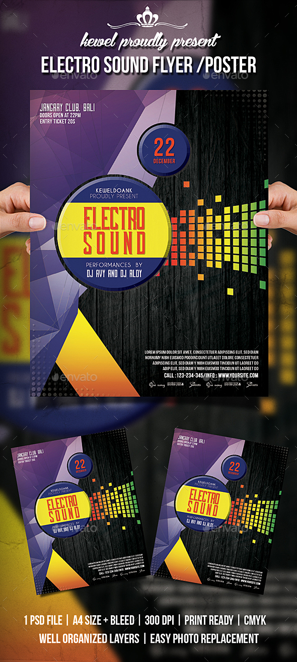 Electro Sound flyer / Poster - Events Flyers