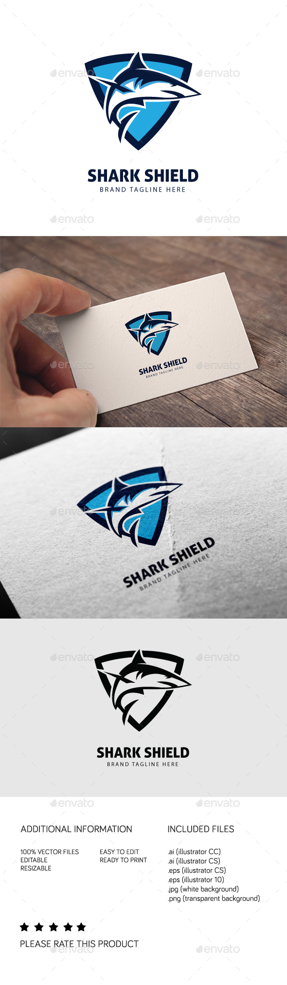 Shark Shield Logo - Animals Logo Templates