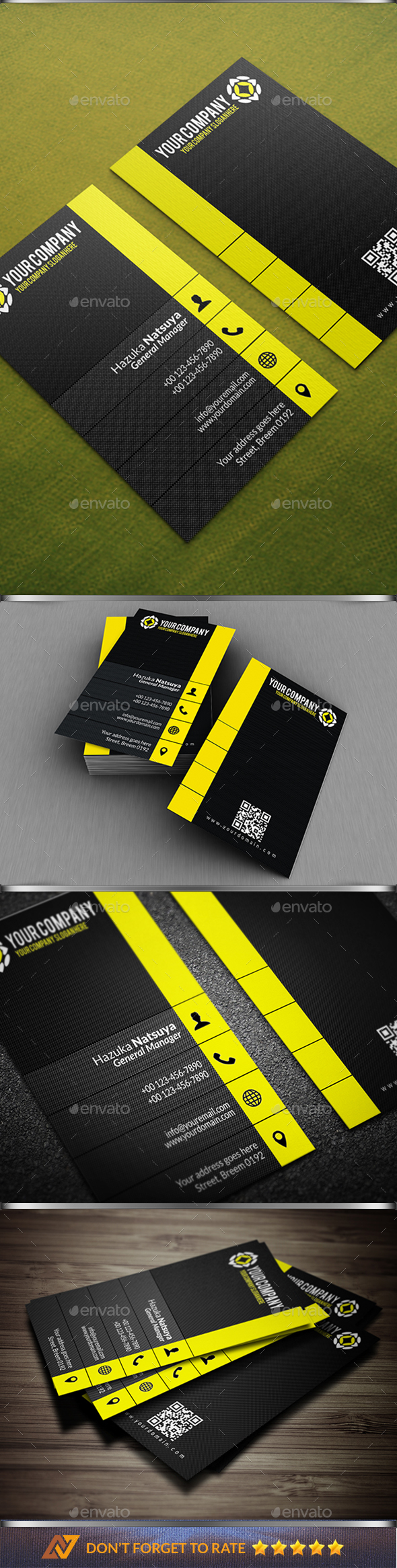 Modern Corporate Business Card Vol. 4 - Corporate Business Cards