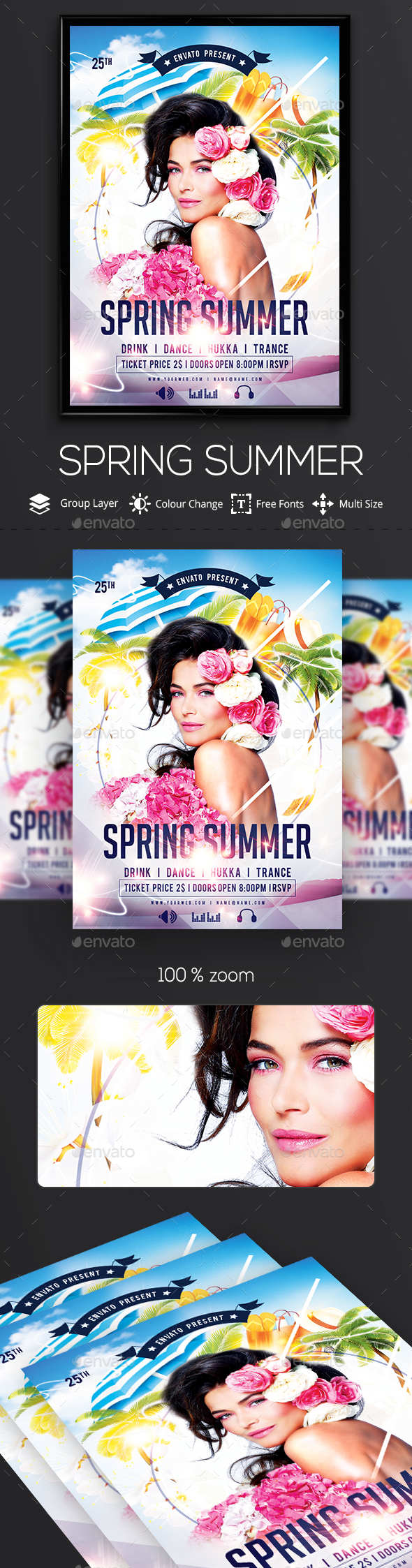 Spring/ Summer Flyers - Clubs & Parties Events