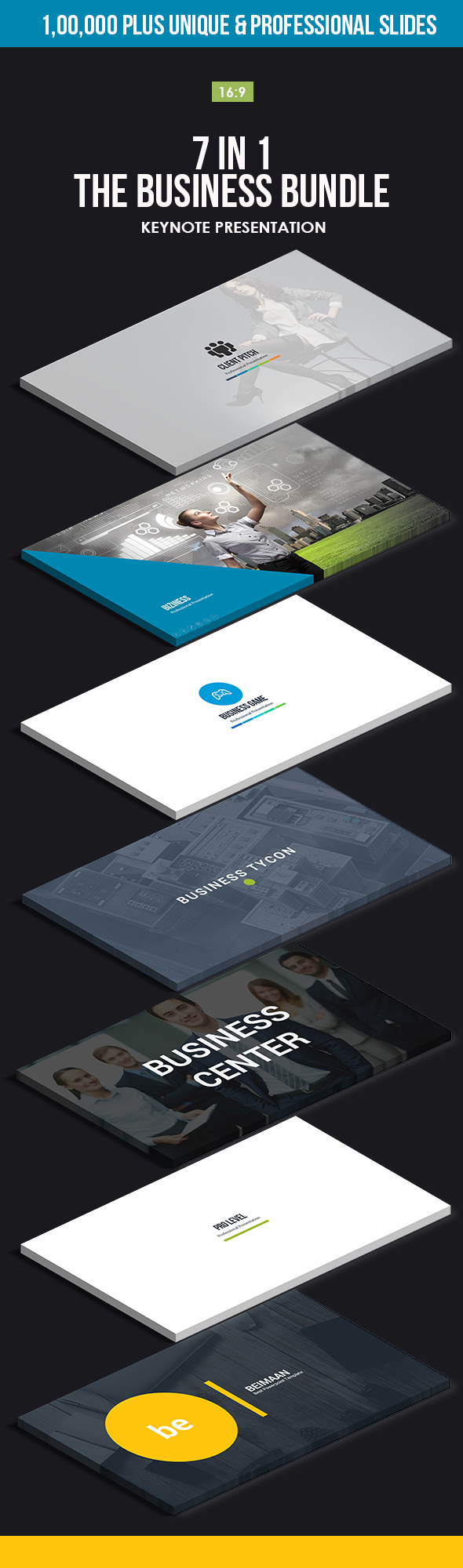 7 in 1 Keynote - The Business Bundle - Business Keynote Templates