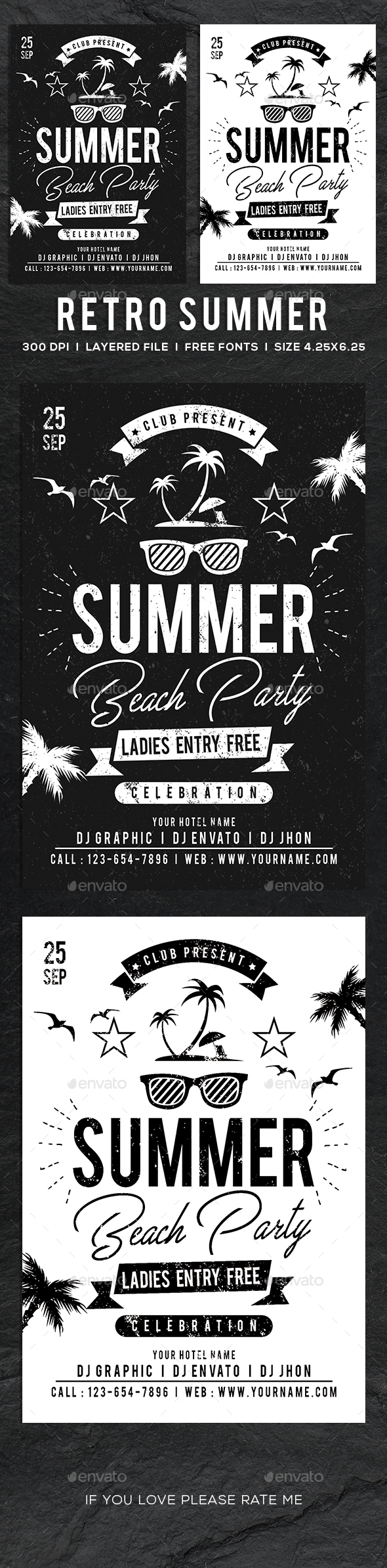Retro Summer Day Flyer / Poster