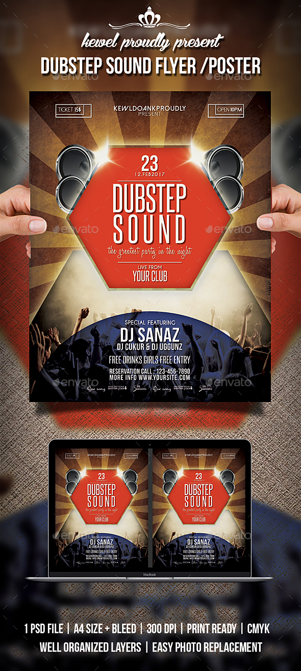 Dubstep Sound Flyer / Poster - Clubs & Parties Events