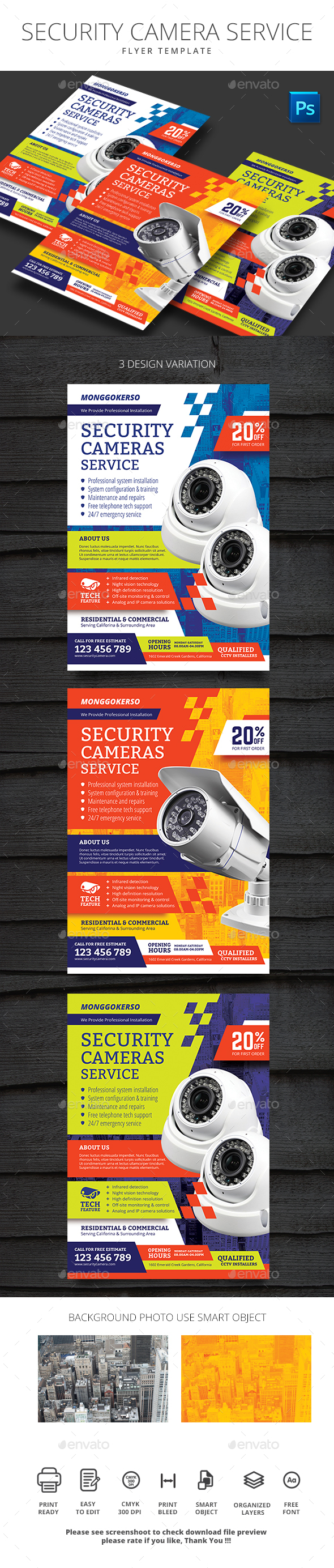 Security Camera Service - Flyers Print Templates