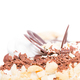 Delicious cake with chocolate and cream cheese. - PhotoDune Item for Sale