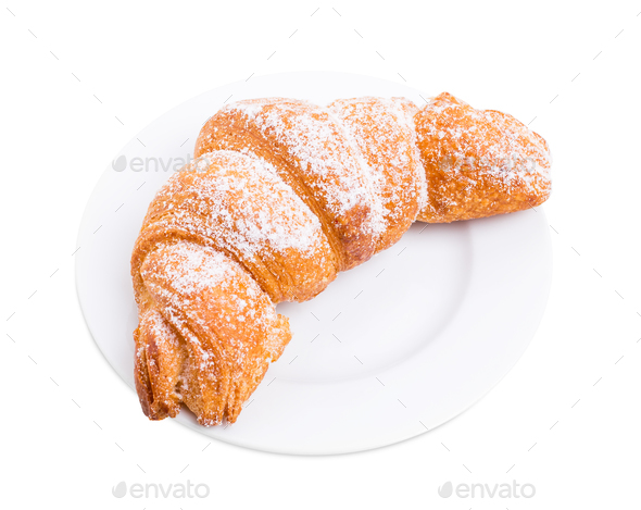 Delicious french croissant. - Stock Photo - Images