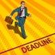Businessman Run To Deadline Pop Art Vector