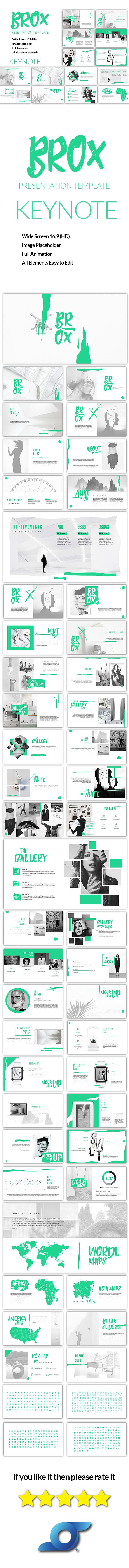 Brox - Creative Keynote Template - Creative Keynote Templates