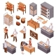 Isometric Bakery Set