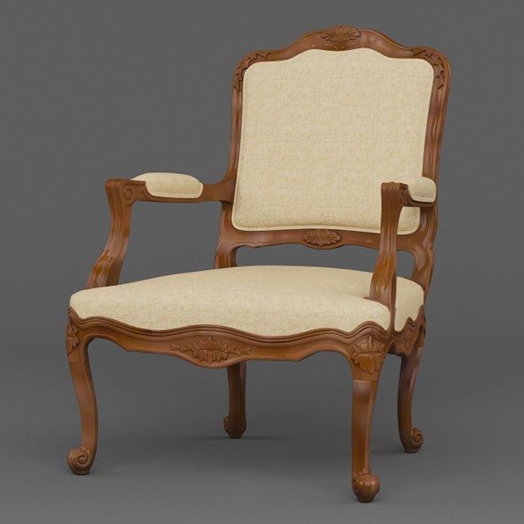 Vray Ready Luxury Wooden Chair - 3DOcean Item for Sale