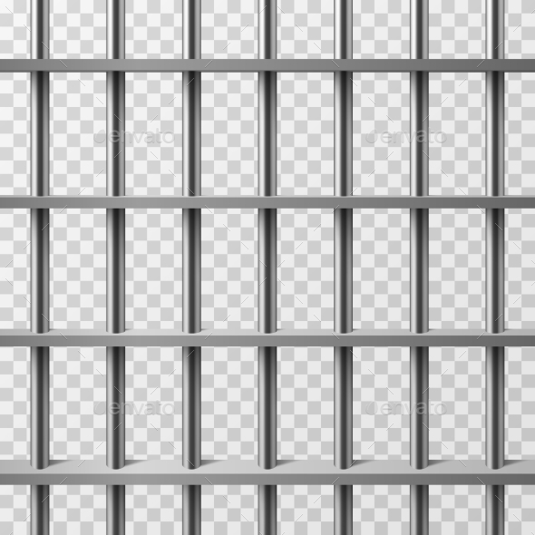 Jail Cell Bars Isolated - Miscellaneous Vectors