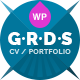 Resume Portfolio & CV vCard - Gridus - ThemeForest Item for Sale